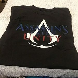 Assassins creed black short sleeve tshirt